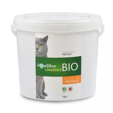 Photo de Croquettes bio pour chat adulte Equilibre & Instinct