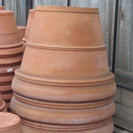 Photo de Pot rond Terracotta double bord - diam. 40 cm