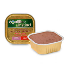 Photo de Terrine riche en boeuf pour chien adulte Equilibre & Instinct