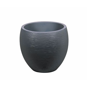 Photo de  Pot egg Graphit anthracite D 50 x H 45 cm